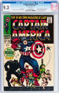 Silver Age (1956-1969):Superhero, Captain America #100 (Marvel, 1968) CGC NM- 9.2 White pages....