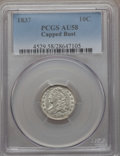 Bust Dimes: , 1837 10C AU58 PCGS. PCGS Population (15/49). NGC Census: (16/87). Mintage: 359,500. Numismedia Wsl. Price for problem free ...