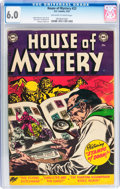 Golden Age (1938-1955):Horror, House of Mystery #23 (DC, 1954) CGC FN 6.0 Off-white to whitepages....