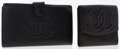 Luxury Accessories:Accessories, Chanel Set of Two; Black Caviar Leather French Purse Wallet &Bifold Wallet. ... (Total: 2 )