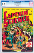 Golden Age (1938-1955):Science Fiction, Captain Science #5 (Youthful Magazines, 1951) CGC FN/VF 7.0 Creamto off-white pages....