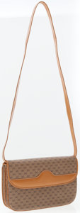 Luxury Accessories:Accessories, Gucci Beige Monogram Canvas Shoulder Bag. ...