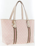 Luxury Accessories:Accessories, Gucci Pink GG Monogram Canvas Tote Bag . ...