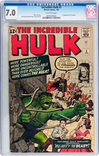The Incredible Hulk #5 (Marvel, 1963) CGC FN/VF 7.0 Off-white pages