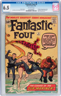 Silver Age (1956-1969):Superhero, Fantastic Four #4 (Marvel, 1962) CGC FN+ 6.5 Off-white pages....