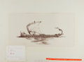 Books:Original Art, [American Heritage Archives]. Original drawing of Greek Ship by C. Stead. Illustration for article related to Alexander the ...
