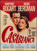 "Movie Posters:Academy Award Winners, Casablanca (Warner Brothers, R-1980s). German A1 (23.5"" X 32.75"").Academy Award Winners.. ..."
