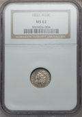 Bust Half Dimes: , 1832 H10C MS62 NGC. NGC Census: (119/455). PCGS Population(92/307). Mintage: 965,000. Numismedia Wsl. Price for problem fr...