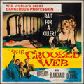 "Movie Posters:Crime, The Crooked Web (Columbia, 1955). Six Sheet (79"" X 80""). Crime....."