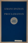 Books:Americana & American History, [American Heritage Archives]. Facsimile of The EmancipationProclamation. Washington: National Archives, 1950. L...
