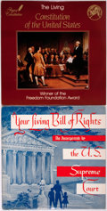 Books:Americana & American History, [American Heritage Archives]. Pair of 33-1/3 Long Play VinylRecords about Constitutional History. Your Living Bill ofRig...