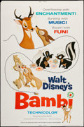"Movie Posters:Animation, Bambi (Buena Vista, R-1975). Poster (40"" X 60""). Animation.. ..."