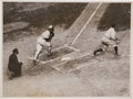 Baseball Collectibles:Photos, 1922 Babe Ruth Original Photograph From World Series....