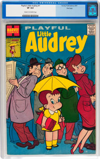 Playful Little Audrey #1 (Harvey, 1957) CGC VF 8.0 Cream to off-white pages