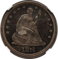 Proof Seated Quarters: , 1876 25C PR63 NGC. NGC Census: (32/99). PCGS Population (56/71).Mintage: 1,150. Numismedia Wsl. Price for problem free NGC...