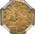 California Fractional Gold: , 1880 25C Indian Octagonal 25 Cents, BG-799J, R.3, MS65 NGC. NGCCensus: (8/3). PCGS Population (38/7). ...
