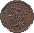 Half Cents: , 1854 1/2 C MS64 Red and Brown NGC. C-1. NGC Census: (52/23). PCGSPopulation (61/15). Mintage: 55,358. Numismedia Wsl. Pri...
