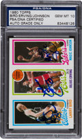 Basketball Collectibles:Others, 1980 Topps Bird/Erving/Johnson #6 PSA/DNA Gem Mint 10. ...