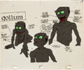 Animation Art:Production Cel, The Lord of the Rings Gollum Model Cel Animation Art (United Artists, 1978)....
