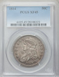 Bust Half Dollars: , 1814 50C XF45 PCGS. PCGS Population (65/308). NGC Census: (69/330).Mintage: 1,039,075. Numismedia Wsl. Price for problem f...