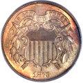 1873 2C Closed 3 PR64 Red and Brown PCGS. CAC....(PCGS# 3652)