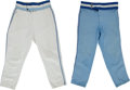 Baseball Collectibles:Uniforms, 1980 and 1984 Toronto Blue Jays Game Worn Jersey Pants Lot of 2....