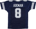 Football Collectibles:Balls, Troy Aikman Signed Dallas Cowboys Jersey....