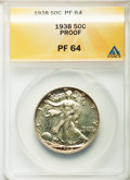 1938 50C PR64 ANACS. NGC Census: (316/1309). PCGS Population (653/1487). Mintage: 8,152. Numismedia Wsl. Price for probl...