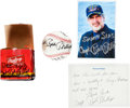 Autographs:Baseballs, Captain Richard Phillips Single Signed Baseball, Note AndPhotograph....