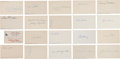 Autographs:Index Cards, 1930's and 40's Era Baseball Signed Index Cards Lot Of 20....