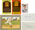 Autographs:Post Cards, Baseball Legends Signed Postcards, Index Cards, Etc. Lot Of 6. ...