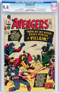 Silver Age (1956-1969):Superhero, The Avengers #15 (Marvel, 1965) CGC NM 9.4 Off-white to white pages....