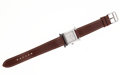 Luxury Accessories:Accessories, Hermes Brown Leather Classic H-Hour Watch with Palladium Hardware....
