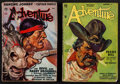 "Movie Posters:Adventure, Adventure Magazine Lot (Popular Publications, 1935 & 1938).Pulp Magazines (2) (Multiple Pages, 10"" X 6.75""). Adventure.. ...(Total: 2 Items)"