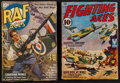 "Movie Posters:War, Fighting Aces & Other Lot (Fictioneers, 1942). Pulp Magazines(2) (Multiple Pages, 9.25"" X 6.75""). War.. ... (Total: 2 Items)"