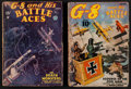 """Movie Posters:War, G-8 and His Battle Aces (Popular Publications, Inc., March 1935& January 1937). Magazines (2) (Multiple Pages, 7"""" X... (Total:2 Items)"""