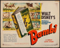 "Movie Posters:Animation, Bambi (RKO, 1942). Half Sheet (22"" X 28"") Style A. Animation.. ..."