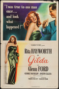 "Movie Posters:Film Noir, Gilda (Columbia, 1946). One Sheet (27"" X 41"") Style A. Film Noir....."