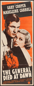 "Movie Posters:Adventure, The General Died at Dawn (Paramount, R-1942). Insert (14"" X 36"").Adventure.. ..."