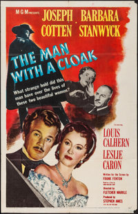 """The Man with a Cloak (MGM, 1951). One Sheet (27"""" X 41""""). Film Noir"""