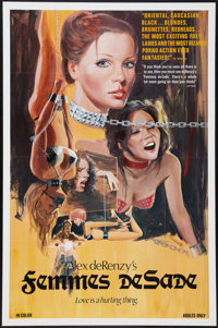 "Femmes de Sade (Variety Films, 1976). One Sheet (26.5"" X 40.5""). Adult"
