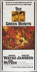 "Movie Posters:War, The Green Berets (Warner Brothers, 1968). Three Sheet (41"" X 77"").War.. ..."