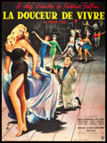 """Movie Posters:Foreign, La Dolce Vita (Consortium, 1960). French Grande (47"""" X 63""""). Foreign.. ..."""