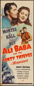 "Movie Posters:Fantasy, Ali Baba and the Forty Thieves (Universal, 1944). Insert (14"" X 36""). Fantasy.. ..."