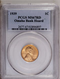 Lincoln Cents: , 1939 1C MS67 Red PCGS. PCGS Population (322/3). NGC Census:(651/0). Mintage: 316,479,520. Numismedia Wsl. Price: $80. (#26...