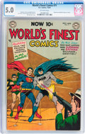 Golden Age (1938-1955):Superhero, World's Finest Comics #71 (DC, 1954) CGC VG/FN 5.0 Off-white pages....