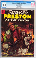 Golden Age (1938-1955):Adventure, Sergeant Preston of the Yukon #16 (Dell, 1955) CGC NM- 9.2 Off-white to white pages....