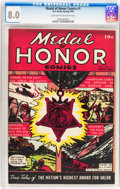 Golden Age (1938-1955):War, Medal Of Honor Comics #1 (Curtis , 1946) CGC VF 8.0 Light tan to off-white pages....