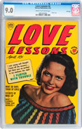 Golden Age (1938-1955):Romance, Love Lessons #4 File Copy (Harvey, 1950) CGC VF/NM 9.0 Cream tooff-white pages....