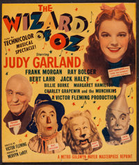 "The Wizard of Oz (MGM, R-1949). Trimmed Window Card (13.25"" X 15.5""). Fantasy"